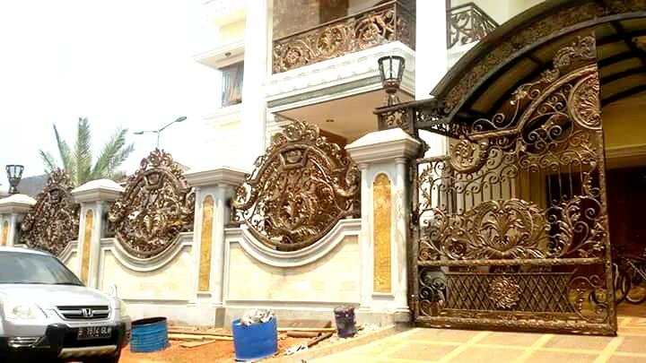 Pagar Rumah Mewah Pintu Pagar Besi Tempa Klasik Pagar Balkon Besi