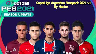 PES 2021 Facepack Superliga Argentina by Hector