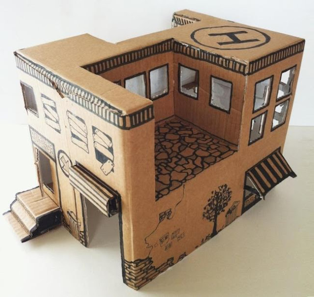 How To Make A Simple Cardboard Box Toy House   By DIY Is Fun