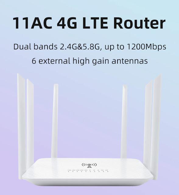 LT260 2.4G 5.8G 1200Mbps CAT6 32 Wifi Users 4G Router Portable Wifi Hotspot RJ45 WAN LAN Wireless Modem 4G SIM Card Wifi Router