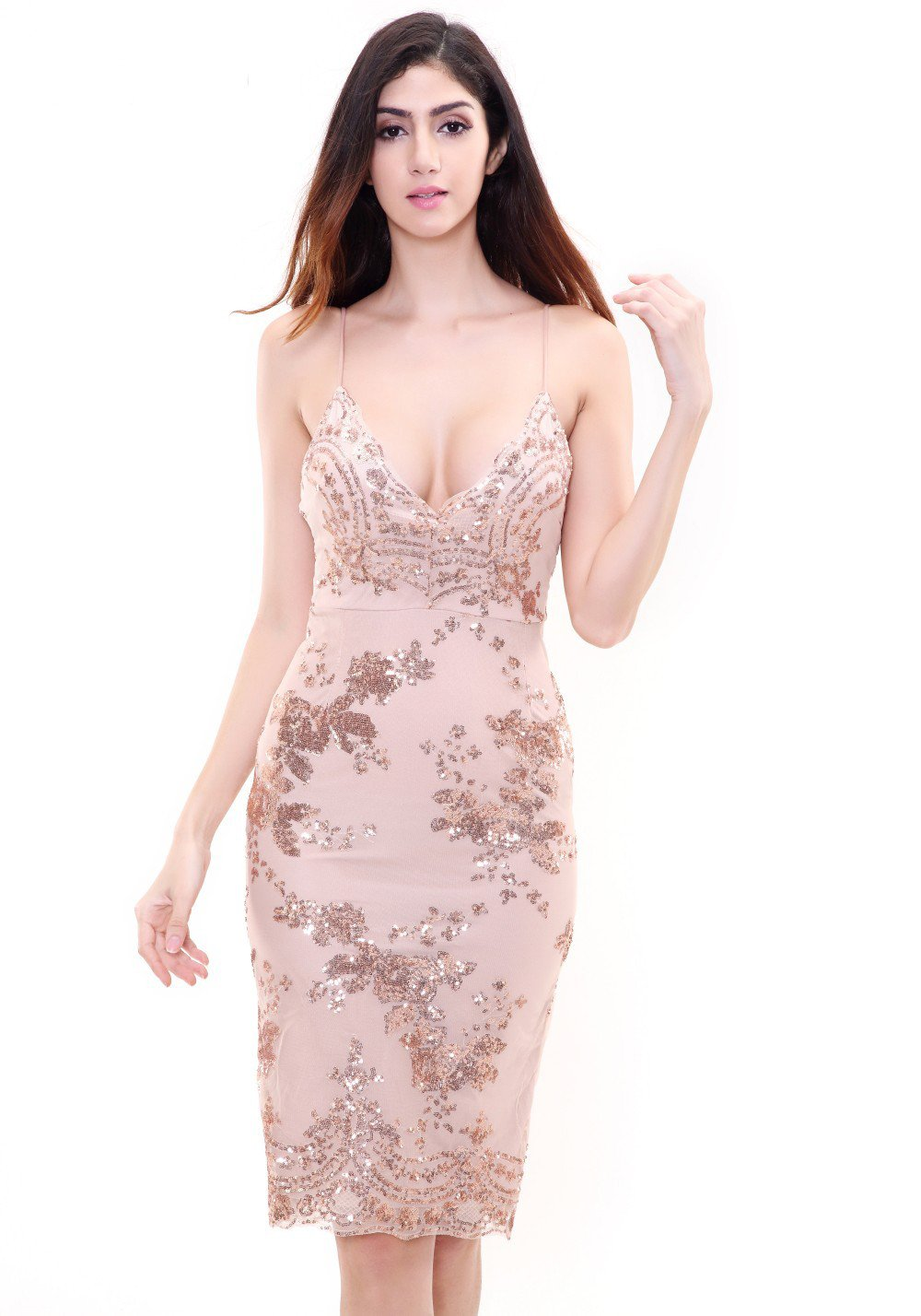 Jasmine | Detailed Sequin Dress
