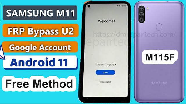 Samsung M11 FRP Bypass U2 Android 11 FRP Downgrade Firmware