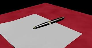 foto foglio e penna
