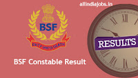 BSF Constable Result
