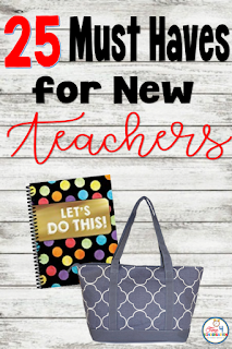 25 Must haves for new teachers: Everything new teachers need to start a new classroom.  Congratulations you've just got your first job, now let's set up that new classroom.  Here is a list of what every teacher needs.