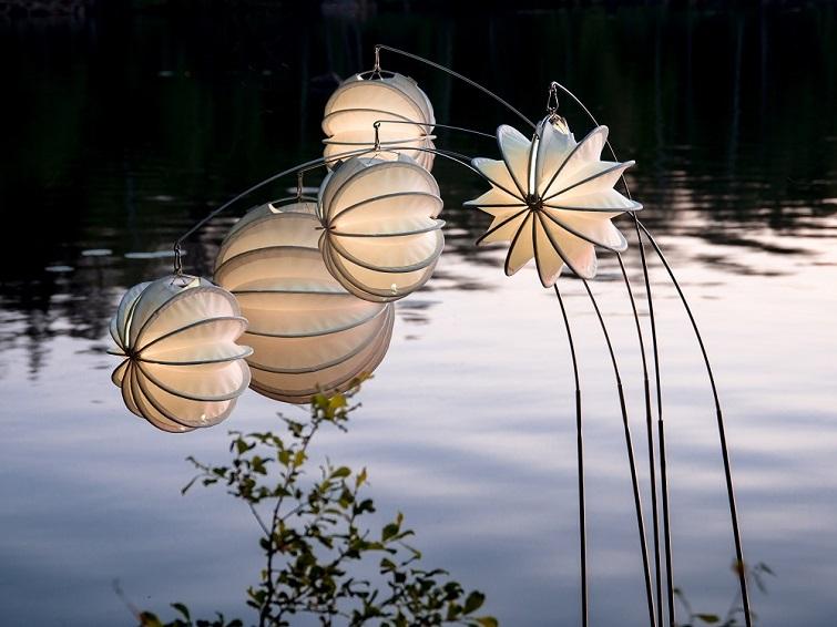 Wetterfeste Lampions für den Garten