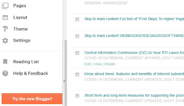 Try new blogger interface