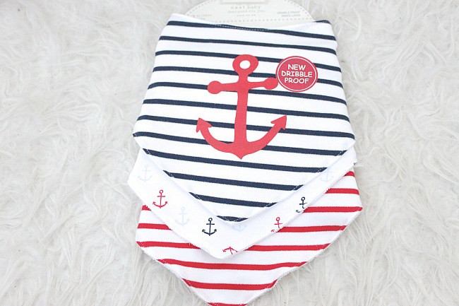 nautical dribble bibs
