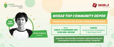 Nobar Nongkrong Bareng Top Community Depok 17 Desember 2016