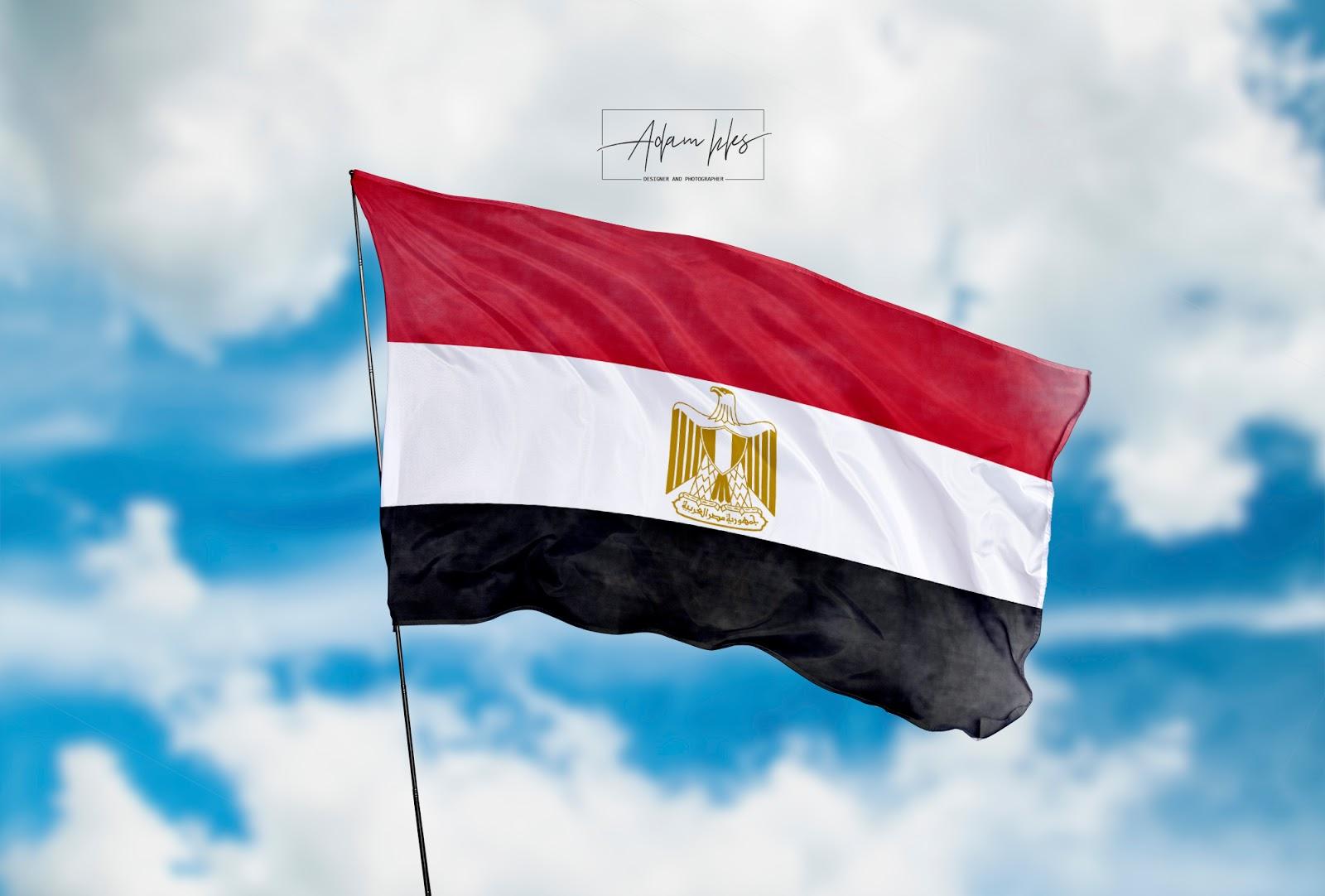 علم مصر يرفرف