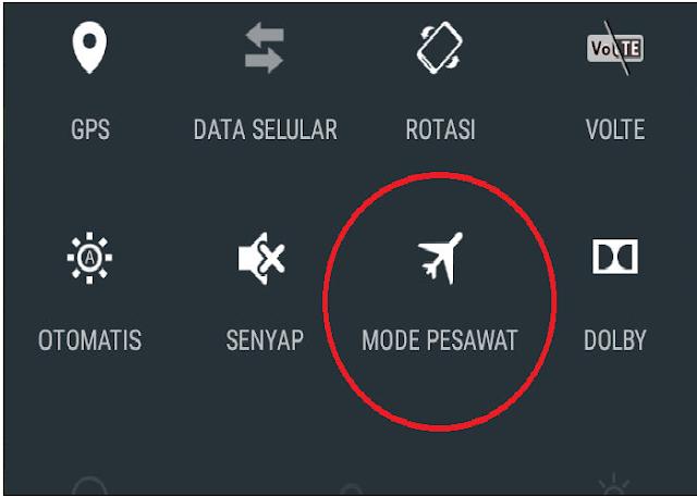 Mode Pesawat Restart Ulang Koneksi