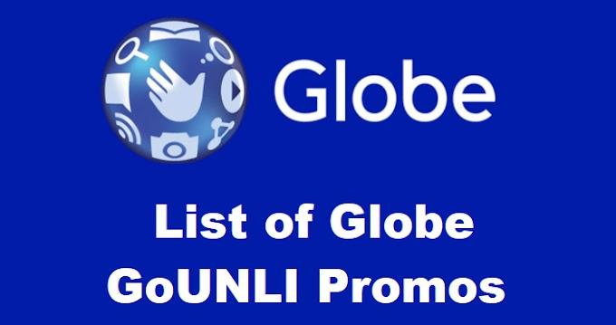 List of Globe GoUNLI Promos 2021