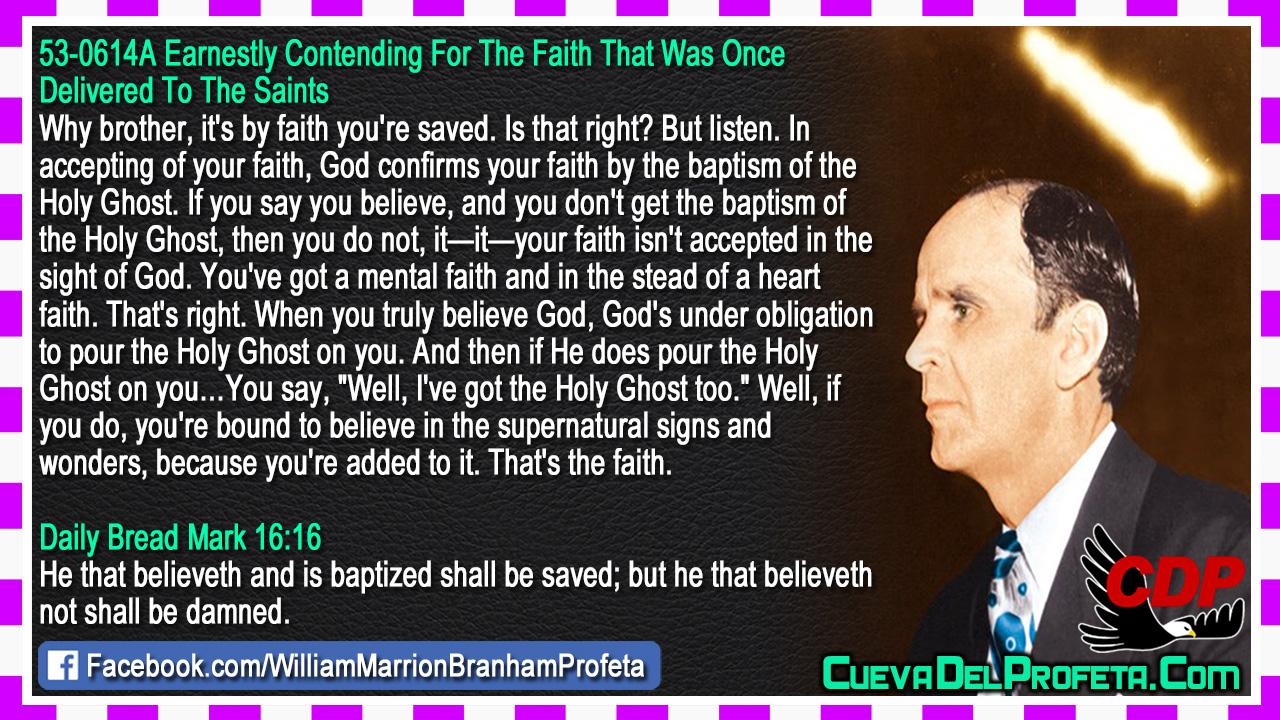 You've got a mental faith and in the stead of a heart faith - William Marrion Branham