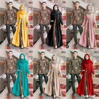 Jual Model Batik Couple Sarwendah Sarimbit Modern Untuk Pesta Kondangan Anak Muda