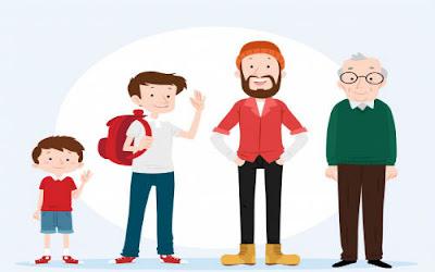 Criança, Adolescente, Jovem, Adulto e Idoso
