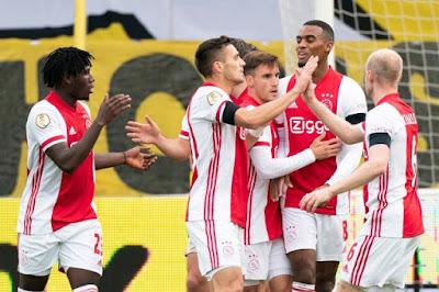 ملخص واهداف مباراة اياكس وفينلو (13-0) الدوري الهولندي