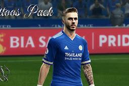 Mega Tatto Pack + Update 2021 - PES 2013