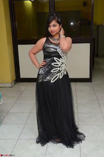 Shrisha Dasari in Sleeveless Short Black Dress At Follow Follow U Audio Launch 082.JPG