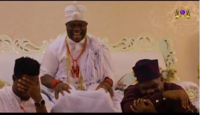 Watch Mr Macaroni's Reaction After Meeting Ooni Of Ife (Video)
