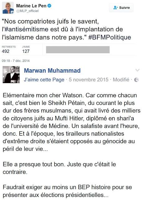 Marwan Muhammad répond à Marine Le Pen