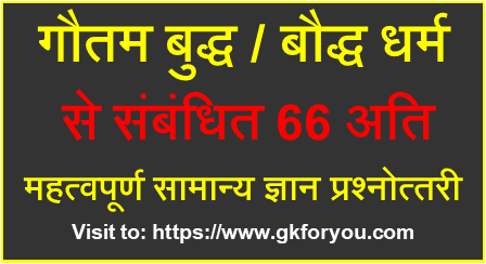66 GK Questions on Gautam Budh I Mahatma Budh I Baudh Dharm