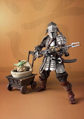 Star Wars Ronin Mandalorian Beskar Armor Edition Meisho Movie Realization Action Figure with Grogu