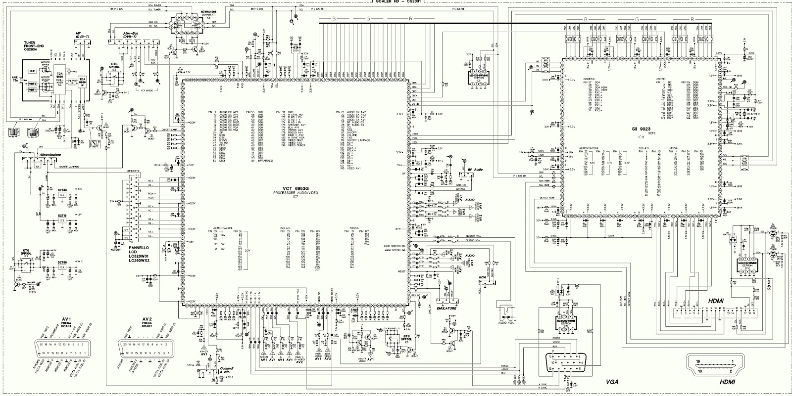 Mivar 32m1 And Mivar 26m2 Lcd Tv Schematic