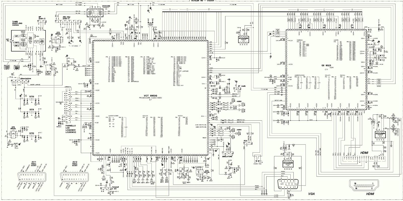 t con board block diagram