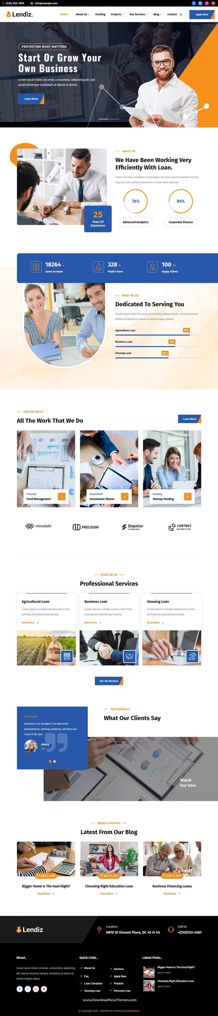 Loan & Funding Agency WordPress Theme