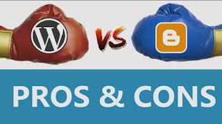 wordpress vs blogger हिन्दी में