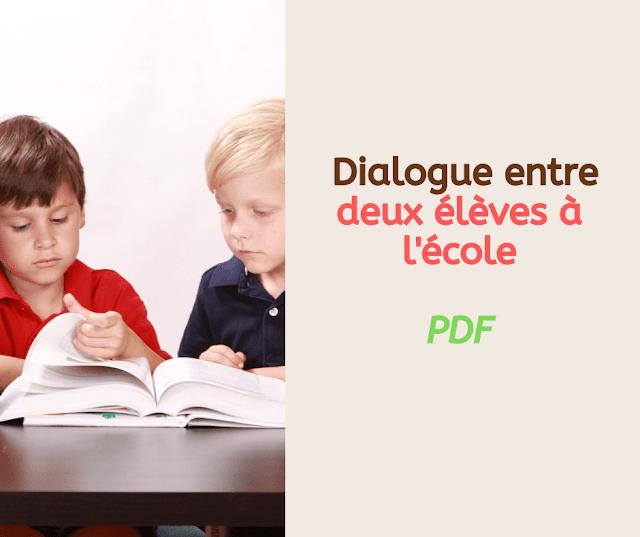 Dialogue entre deux élèves à l'école
