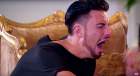 Rylan Clark crying