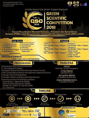 Green Scientific Competition 2018 UNNES