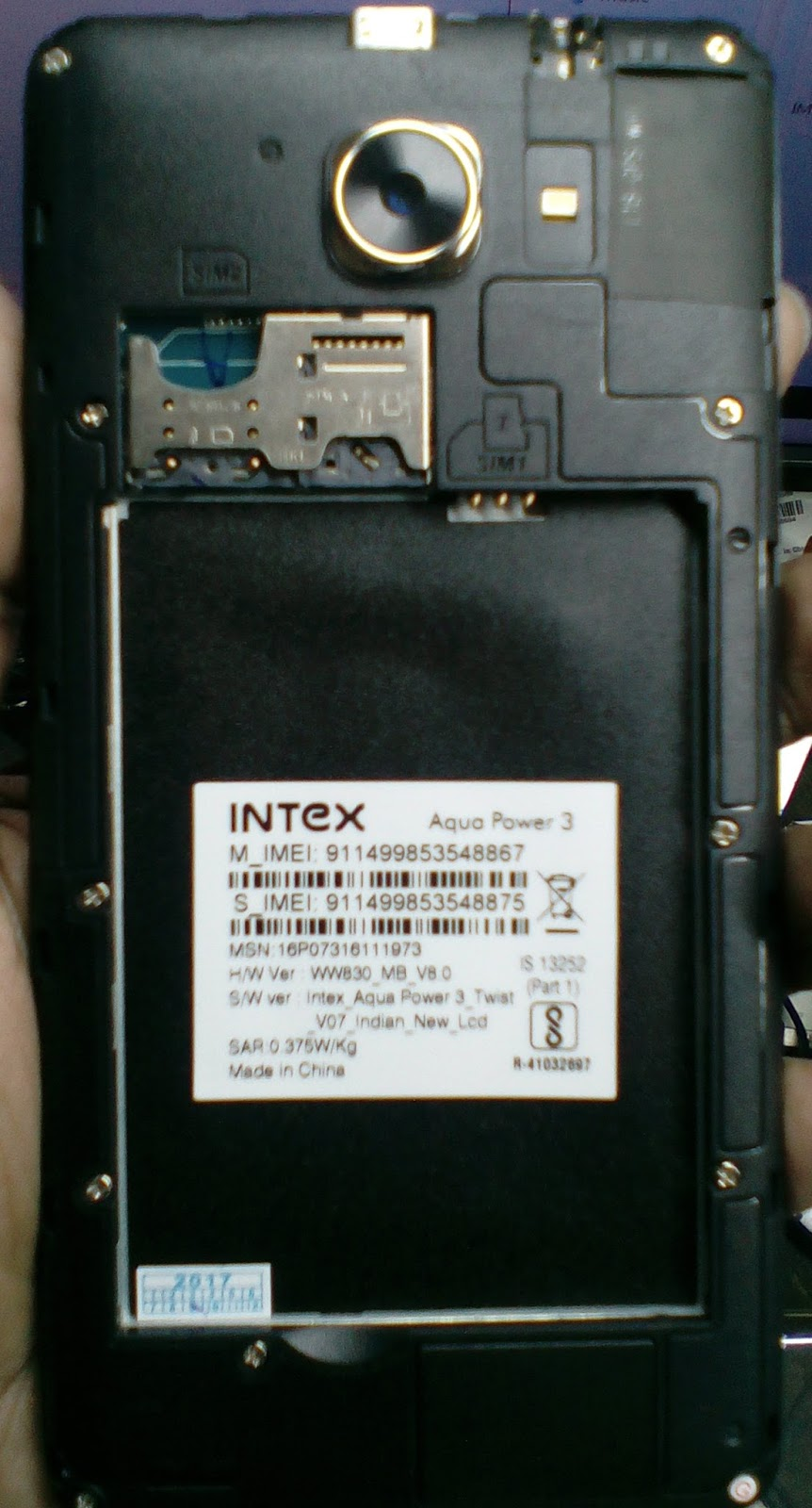 Intex Aqua Power 3 Flash File