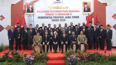 Buka Latpimnas II , Gubernur Khofifah Bangkitkan Spirit Majapahit untuk Peserta