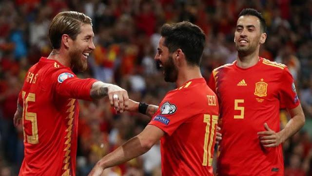 تشكيل أسبانيا ضد السويد عبر سوفت سلاش