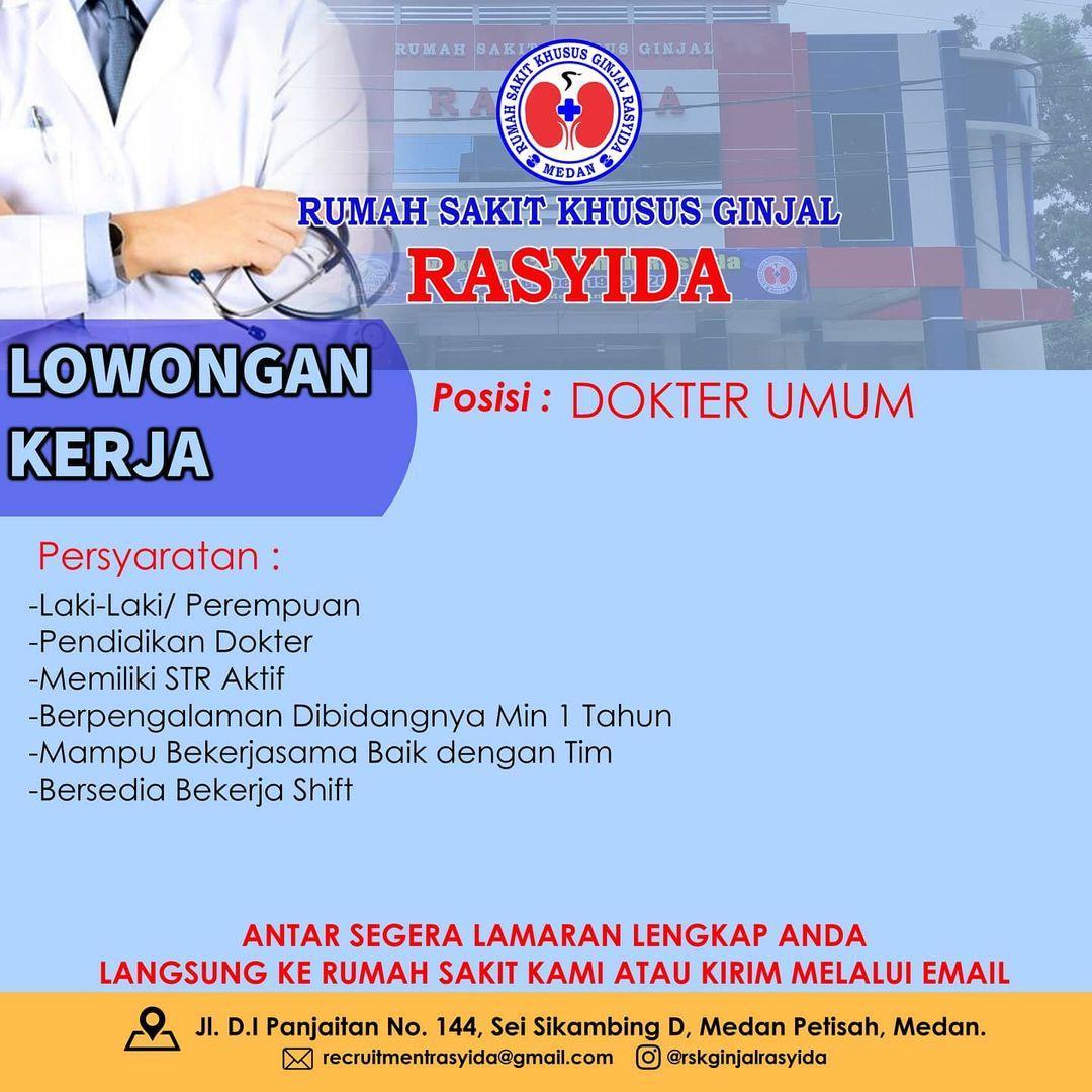 loker dokter umum sumatra utara