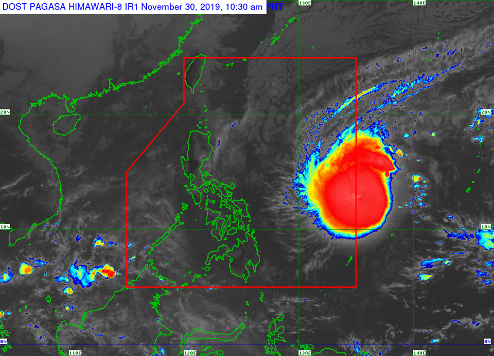 Typhoon Tisoy PAGASA weather update November 30