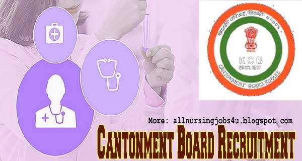 Staff Nurse Vacancies in Cantonment Board Khadki Pune 2020 Apply Online