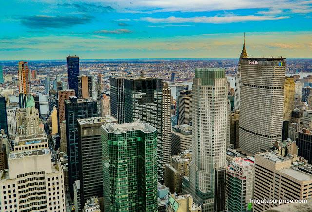 Nova York vista do Rockefeller Center
