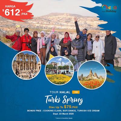 Paket Tour Turki Spring 2020