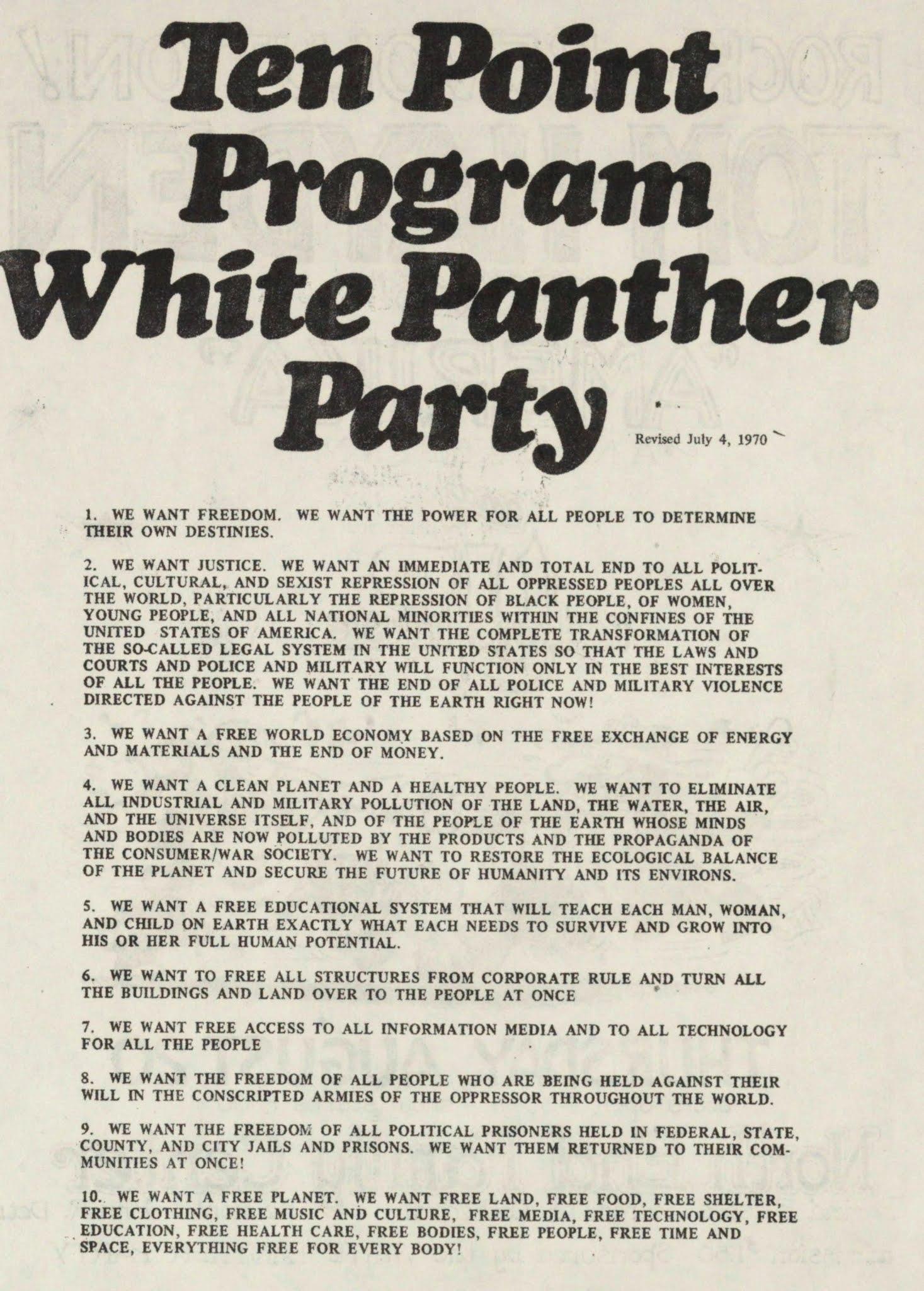 Programa Partido Panteras Blancas