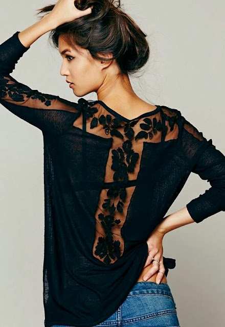 Black floral laces dress
