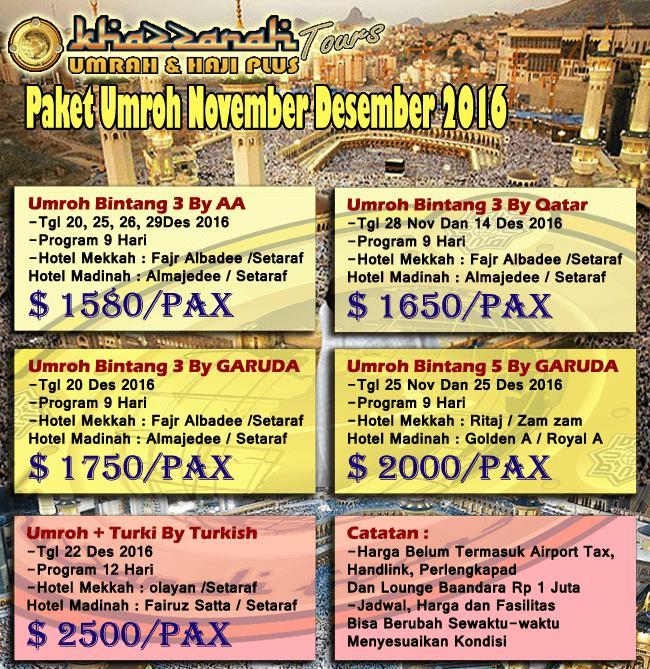 Biaya Umroh November 2016