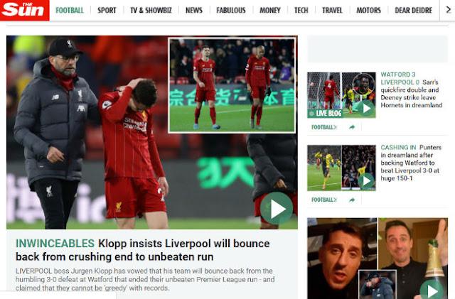 """Liverpool vỡ mộng bất bại: Báo Anh mỉa mai, chê Salah - Mane """"vô hại"""""""