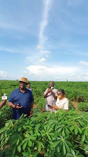 OGUN AGRIC INSPECT STORAGE FACILITIES, CASSAVA DEMONSTRATION FARM AT IKENNE