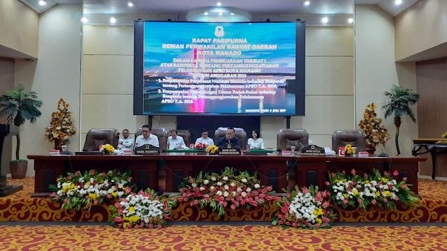 DPRD Kota Manado Gelar Paripurna Ranperda APBD Kota Manado Tahun Anggaran 2018