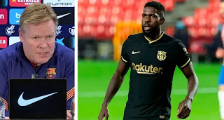 'Umtiti has improved physically a lot. I see him doing fine': Koeman
