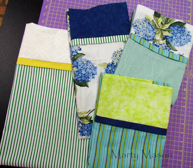 hand made pillow cases - marty mason