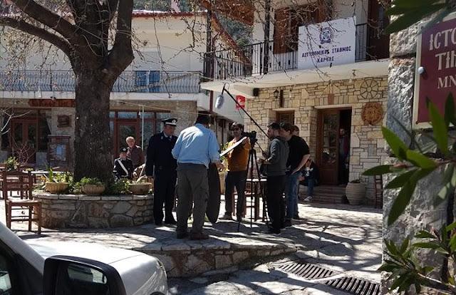 Πάλι κάμερες στο Κολοκοτρωνίτσι: Η Ελληνική αστυνομία γυρίζει σποτ στην Καρυά Αργολίδας